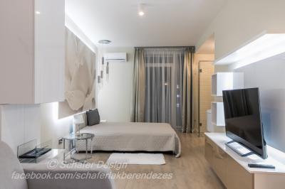 Romantikus stúdió apartman1 - háló ötlet, modern stílusban