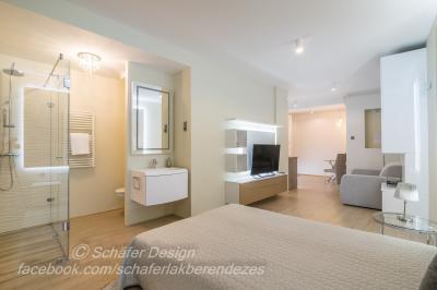 Romantikus stúdió apartman4 - háló ötlet, modern stílusban