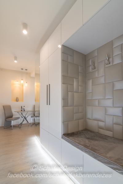 Romantikus stúdió apartman5 - előszoba ötlet, modern stílusban
