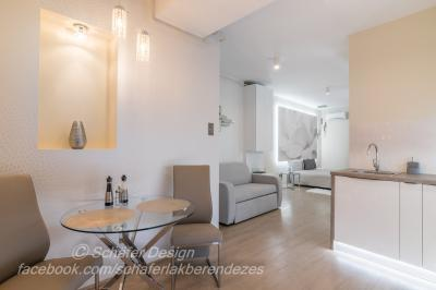 Romantikus stúdió apartman7 - konyha / étkező ötlet, modern stílusban