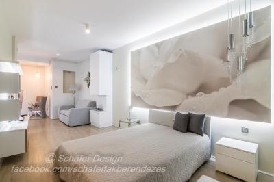 Romantikus stúdió apartman9 - háló ötlet, modern stílusban