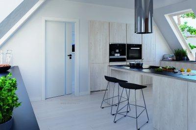 Edzett üveges ajtó - a légies elegancia - konyha / étkező ötlet