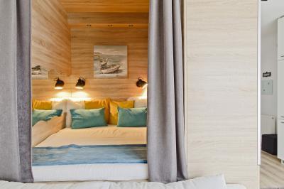 Péceli kis lakás2 - háló ötlet, modern stílusban
