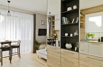 Péceli kis lakás7 - nappali ötlet, modern stílusban