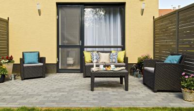 Péceli kis lakás12 - erkély / terasz ötlet, modern stílusban