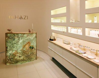 Slate Design Translucent Sahara White kőfurnéros pult - nappali ötlet