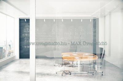 Beltéri térelválasztó üvegfal - dolgozószoba ötlet