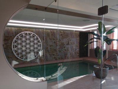 Slate Design Indian Autumn LiteStone kőfurnér burkolat - medence / jakuzzi ötlet