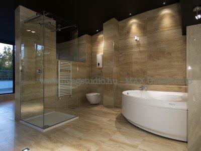 Épített egyedi zuhanykabin - fürdő / WC ötlet