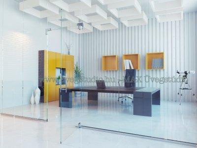 Üvegfal tárgyalóban, irodában, dolgozószobákban - dolgozószoba ötlet