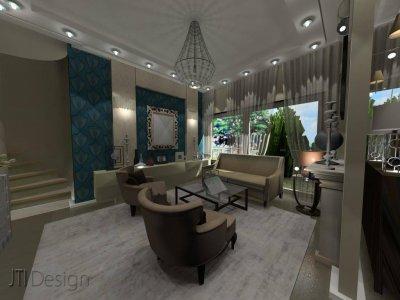 Nappali szoba - nappali ötlet, klasszikus stílusban