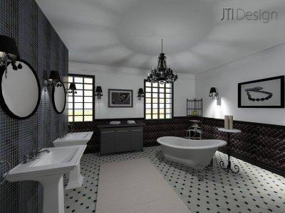 Fürdőszoba - fürdő / WC ötlet, klasszikus stílusban