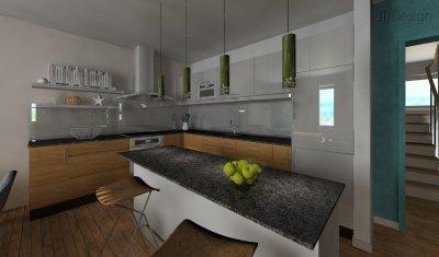 Konyha - konyha / étkező ötlet, modern stílusban