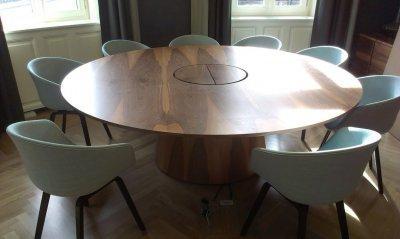Kerek tárgyalóasztal - konyha / étkező ötlet, modern stílusban
