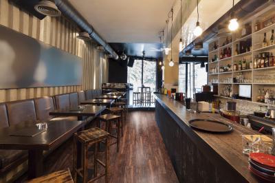 Hangulatos étterem vinyl padlóval - belső továbbiak ötlet, rusztikus stílusban