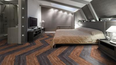 Halszálka mintás vinyl padló - háló ötlet, modern stílusban