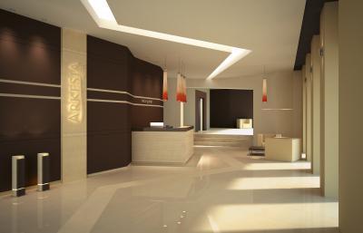 Modern iroda előtere - belső továbbiak ötlet, modern stílusban