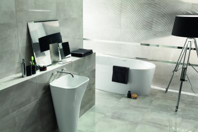 Hidegburkolat szürkében - fürdő / WC ötlet, modern stílusban