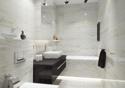 Elegáns, minimál stílusú fürdőszoba - fürdő / WC ötlet, modern stílusban