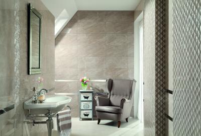 Szürke fürdőszoba - fürdő / WC ötlet, eklektikus stílusban