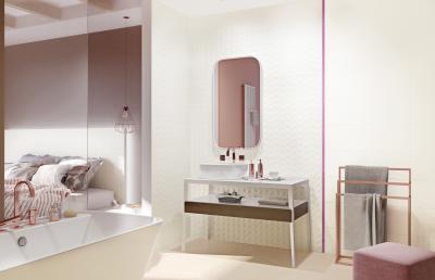 Fehér fürdőszoba - fürdő / WC ötlet, modern stílusban