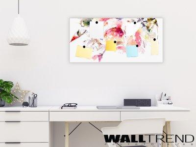 MT 012 Watercolor flower - mágnesezhető falikép - dolgozószoba ötlet, modern stílusban