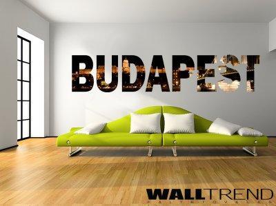 SZV 001 Budapest faltetoválás - nappali ötlet, minimál stílusban