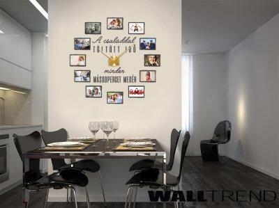 WFO 024 Falióra képekkel faltetoválás +Karlsson falióra - konyha / étkező ötlet, modern stílusban