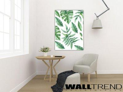 VK 0529 Pálmalevél mintás vászonkép - nappali ötlet, modern stílusban
