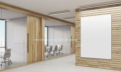 Irodai üvegfal - üveg tárgyaló - dolgozószoba ötlet
