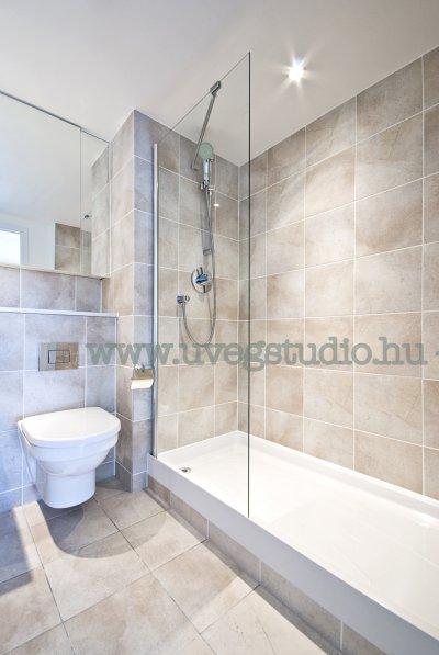 Fix zuhanyfal egyedi méretben - fürdő / WC ötlet