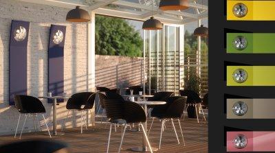 FAN RADIÁTOR | SENIA RADIÁTOR - erkély / terasz ötlet, modern stílusban