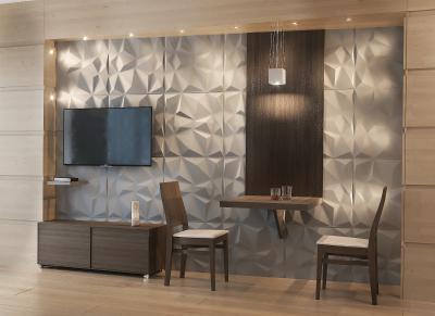 Látványos 3D falburkolat - nappali ötlet, modern stílusban