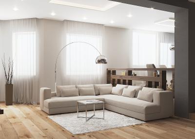 Ötletes térelválasztó - nappali ötlet, modern stílusban
