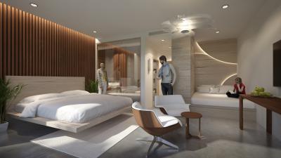 Hálószoba különleges belsőépítészeti megoldásokkal - háló ötlet, modern stílusban