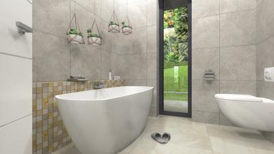 Látványos, egyedi fürdőszoba - fürdő / WC ötlet, modern stílusban