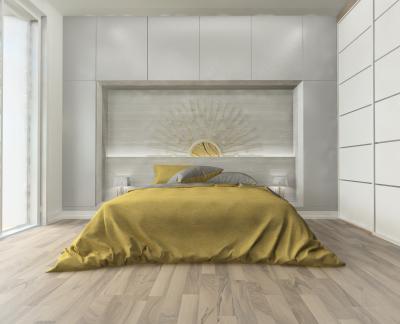 Hálószoba különleges dekorációval - háló ötlet, modern stílusban