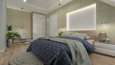 Nyugalmat árasztó, modern hálószoba - háló ötlet, modern stílusban