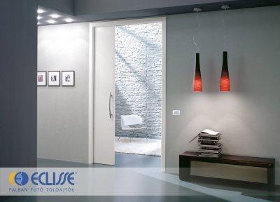 Eclisse Unico egyszárnyú falban futó tolóajtó - előszoba ötlet, modern stílusban