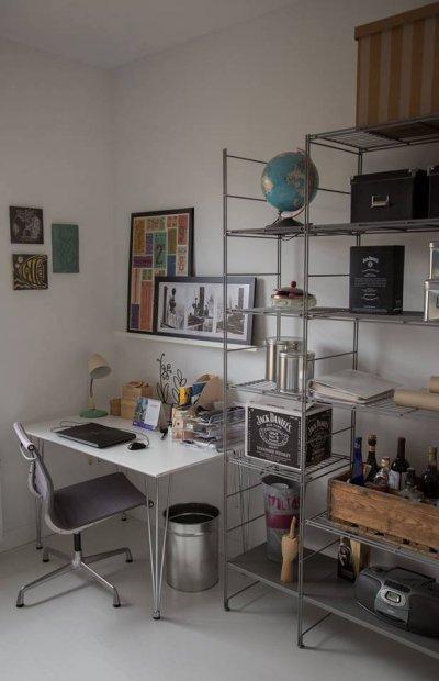 Modern ipari stílusú dolgozószoba, gyerekszoba - gyerekszoba ötlet