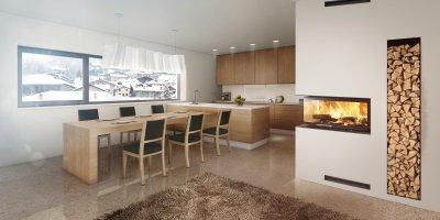 HOXTER ECKA 90/40/40h különleges sarokkandalló - konyha / étkező ötlet
