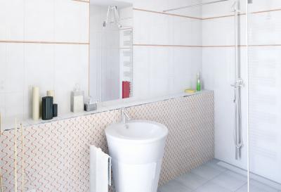 Dinamikus mintázat a csempén - fürdő / WC ötlet, modern stílusban