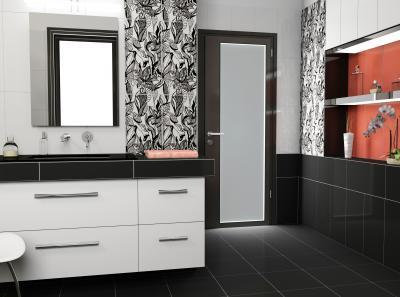 Növénymintás csempe - fürdő / WC ötlet, modern stílusban