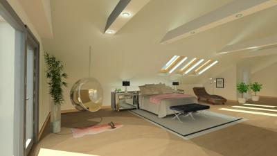 Függesztett gömb fotel a hálóban - háló ötlet, modern stílusban