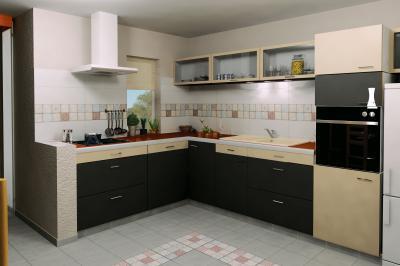 Ismétlődő csempe minta - konyha / étkező ötlet, modern stílusban