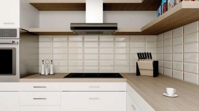 Fehér metro csempe a konyhában - konyha / étkező ötlet, modern stílusban