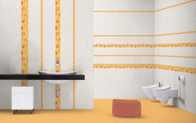 Látványos dekor csempe - fürdő / WC ötlet, modern stílusban