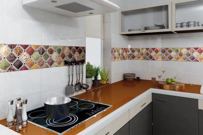 Konyhába illő csempe dekor - konyha / étkező ötlet, modern stílusban