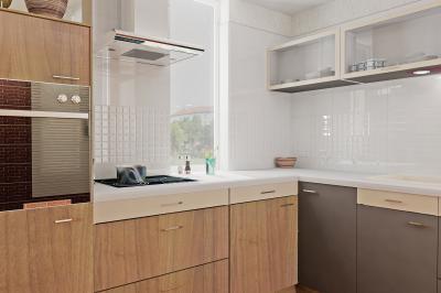 Fehér csempe a konyhában - konyha / étkező ötlet, modern stílusban