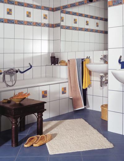 Látványos dekor elemek a csempén - fürdő / WC ötlet, modern stílusban
